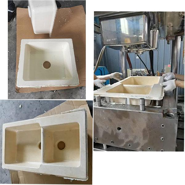 石英石水槽生产过程 SMC洗手盆生产过程