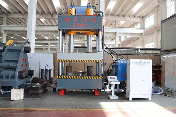 石英石水槽液压机模压成型工艺视频